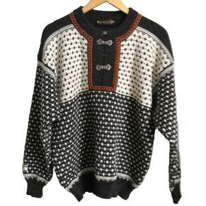 Nordstrikk Nordik Print Wool Sweater, size Large